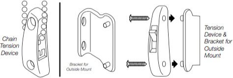 Install the Chain Tension Device - Tension Device & Bracket for Outside Mount