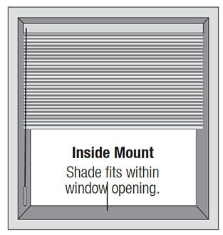 Mounting Types - Inside Mounts - Shade fits within window opening